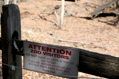 Attention Zoo Visitors Sign