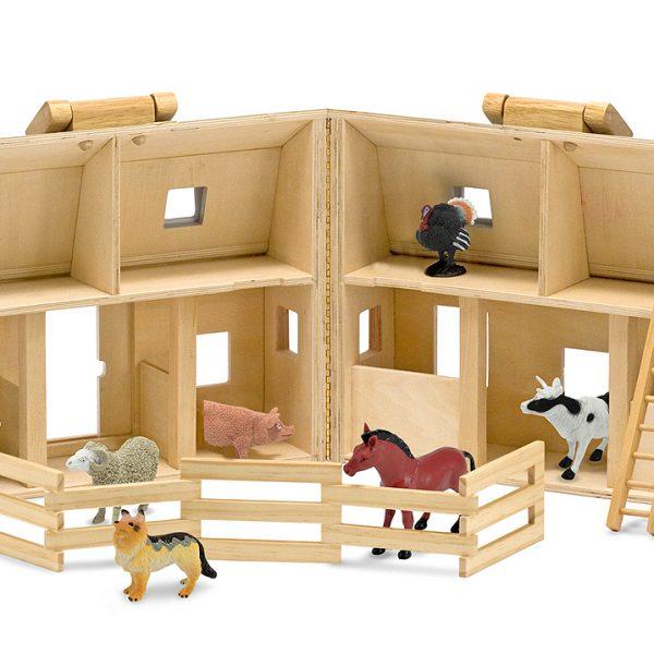 Fold and Go Barn - Melissa and Doug-0