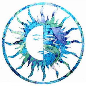 Sun and Moon Natures Metal Art-0