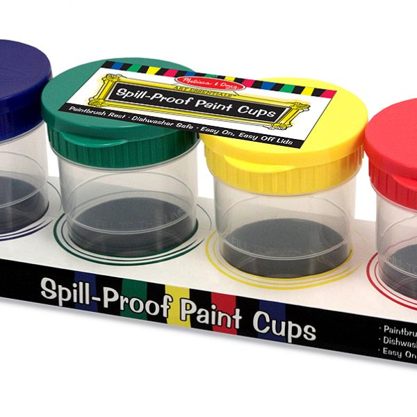 Spill-Proof Paint Cups By Melissa & Doug-0