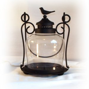 Bird Candle Lamp with Glass-0