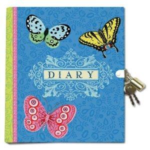 Diary - Blue w/ Butterflies-0