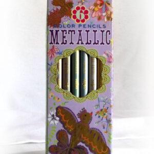 Metallic Color Pencils - Purple w/ Birds-0
