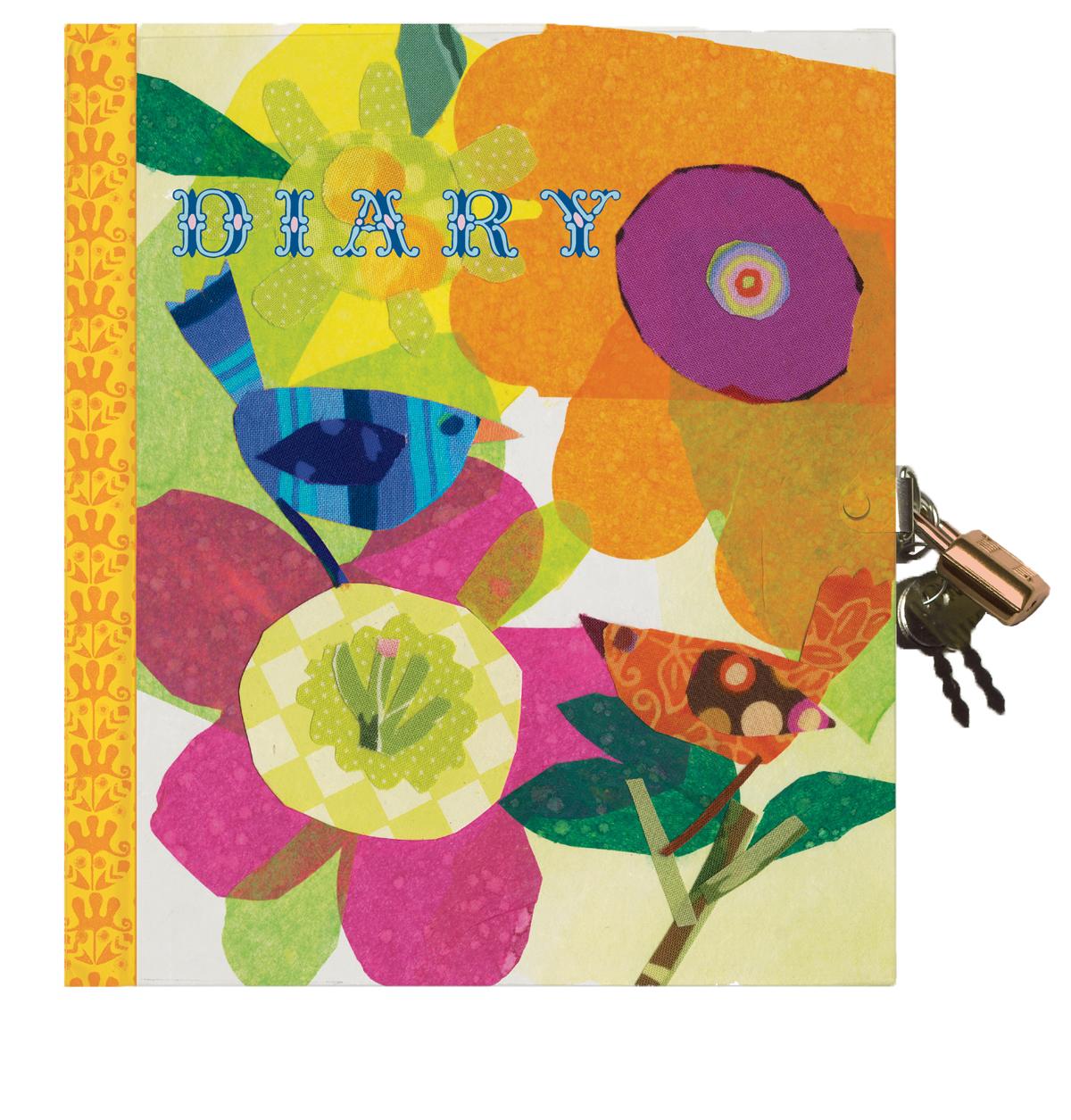 Diary - Flowers & Bird-0