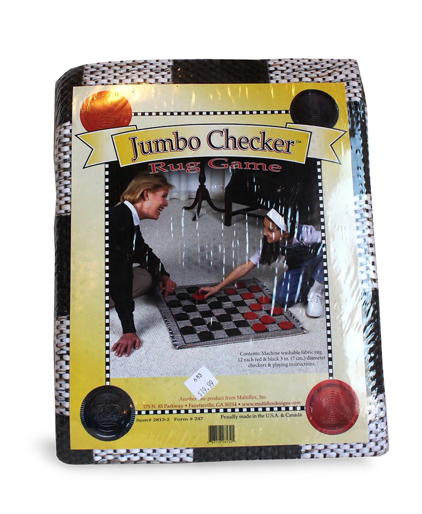 Jumbo Checker Rug Game - Multiflex-0