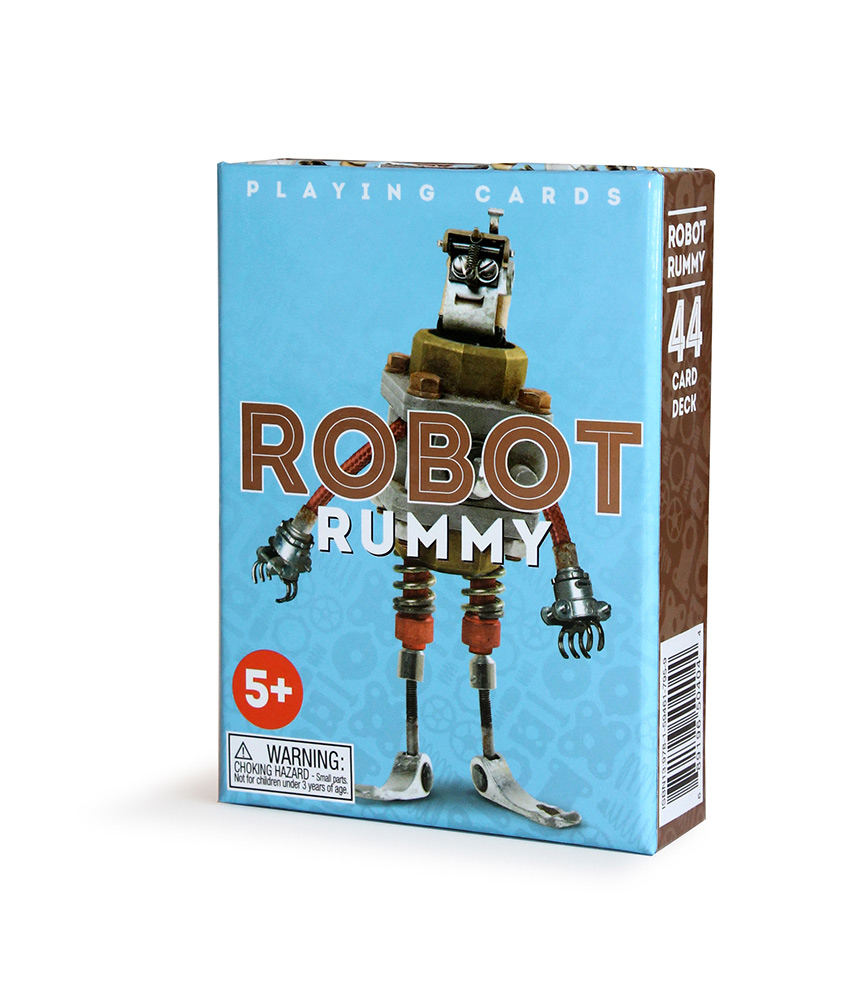 Robot Rummy Playing Cards-0