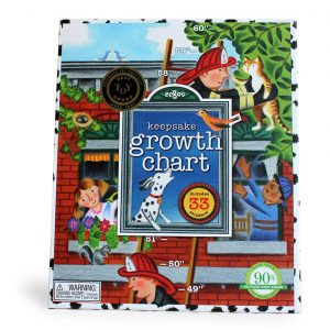 Firemen Keepsake Growth Chart-0