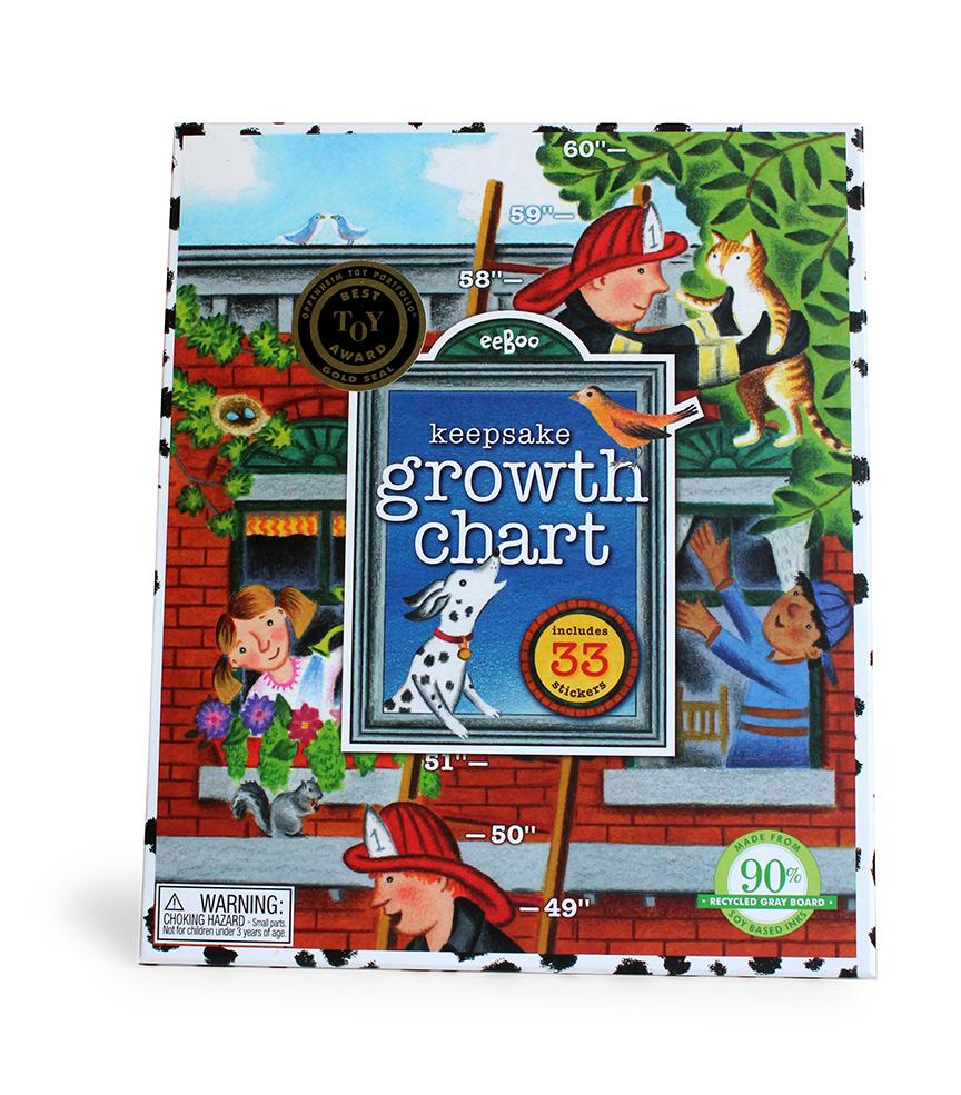 Firemen Keepsake Growth Chart-0