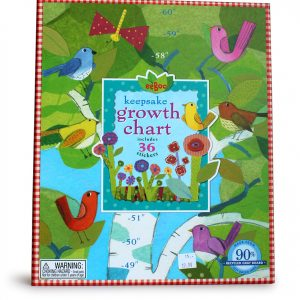 Birds in a Birch Tree Keepsake Growth Chart-0