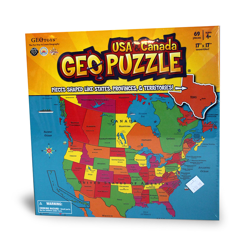Geo Puzzle - USA and Canada-0