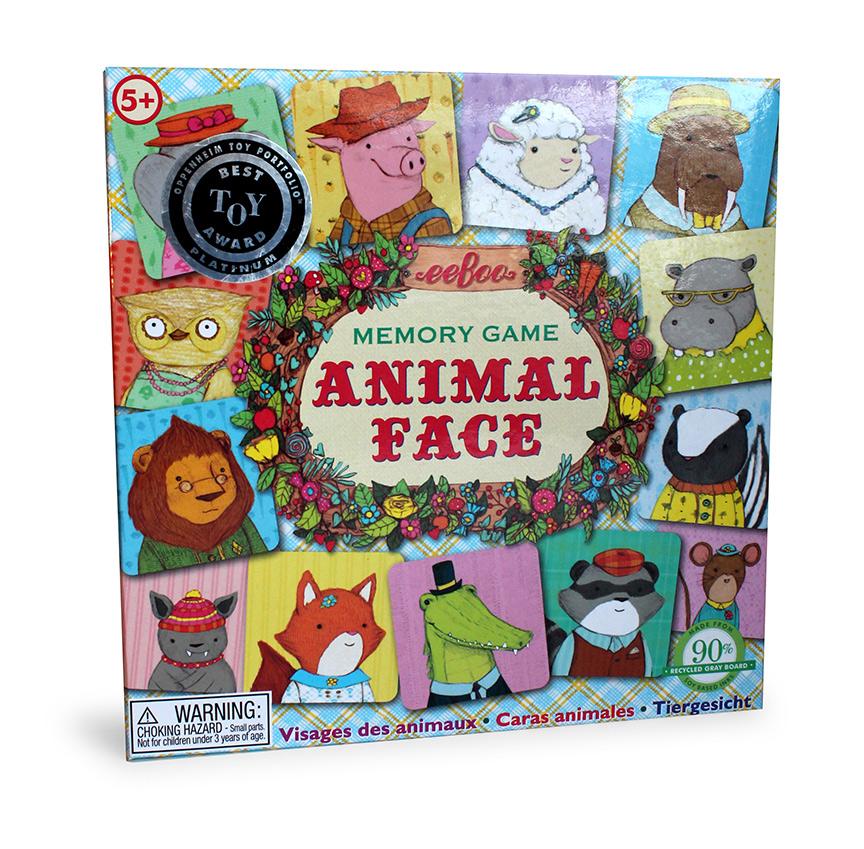 Animal Faces Memory Game-0