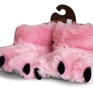 Lazy One Bear Paw Slipper - Pink-0