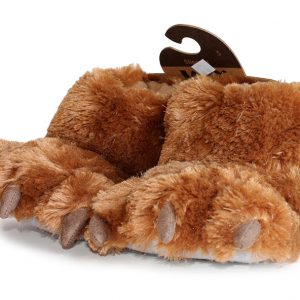 Lazy One Bear Paw Slipper - Brown-0