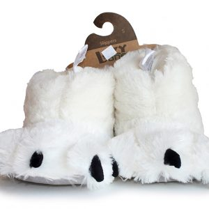 Lazy One Bear Paw Slipper - White-0