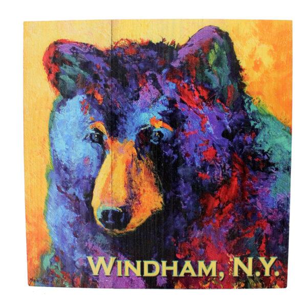 Bear Sign Orange & Purple