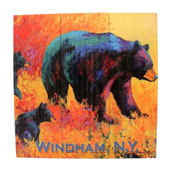 Bear Sign Orange & Red