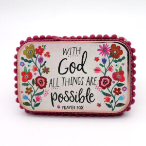 With God All Things Are Possible Prayer Box