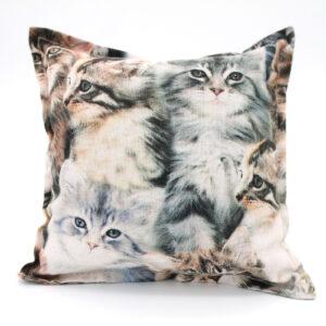 Gray Cat Pillow