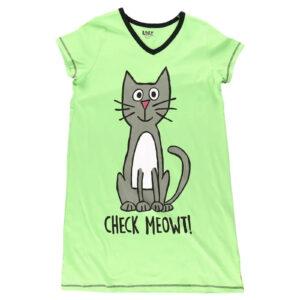lazy one nightshirt check meowt