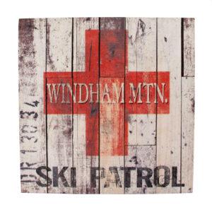 Ski Patrol Sign - Wooden