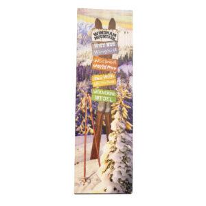 ski trails wooden sign